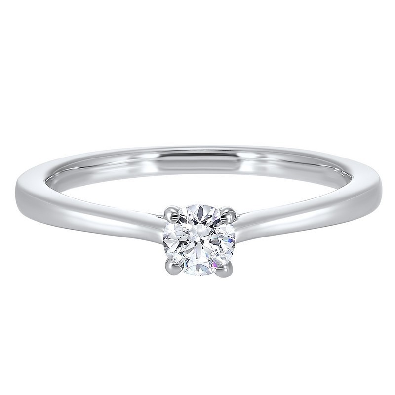 Classic Solitaire Diamond Engagement Ring In 14K White Gold (1/4 Ct. Tw.)