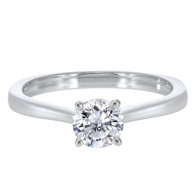 Classic Solitaire Diamond Engagement Ring In 14K White Gold (3/4 Ct. Tw.)