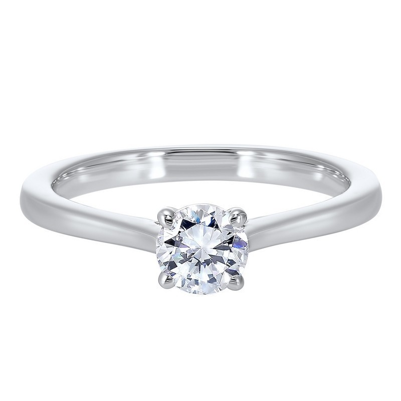 Classic Solitaire Diamond Engagement Ring In 14K White Gold (1/2 Ct. Tw.)
