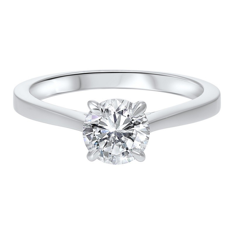 Classic Solitaire Diamond Engagement Ring In 14K White Gold (1 Ct. Tw.)