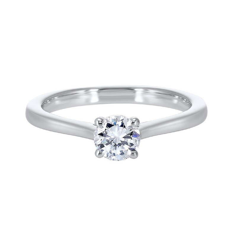 Classic Solitaire Engagement Ring 14K White Gold (1/4 Ct. Tw.)