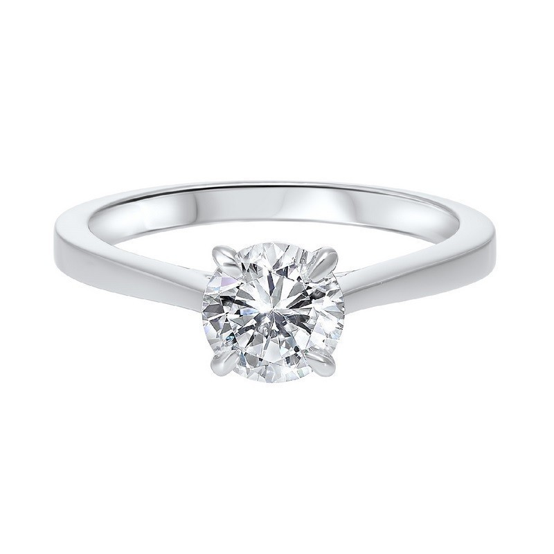 Classic Solitaire Engagement Ring In 14K White Gold (1/3 Ct. Tw.)
