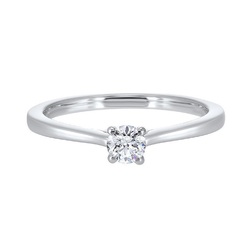 Classic Solitaire Engagement Ring In 14K White Gold (1/2 Ct. Tw.)