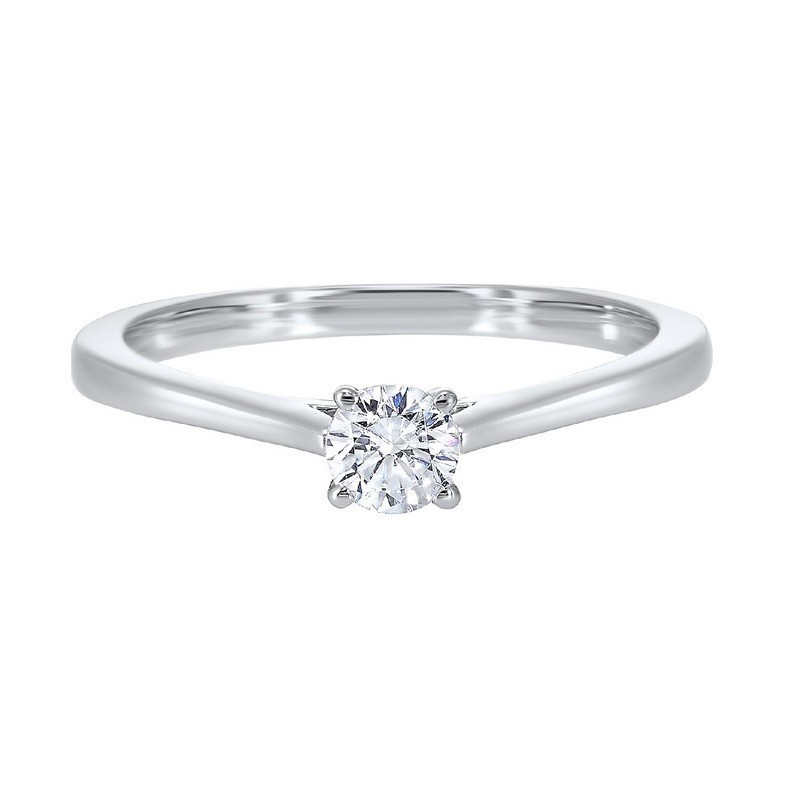 Classic Solitaire Engagement Ring In 14K White Gold (3/4 Ct. Tw)