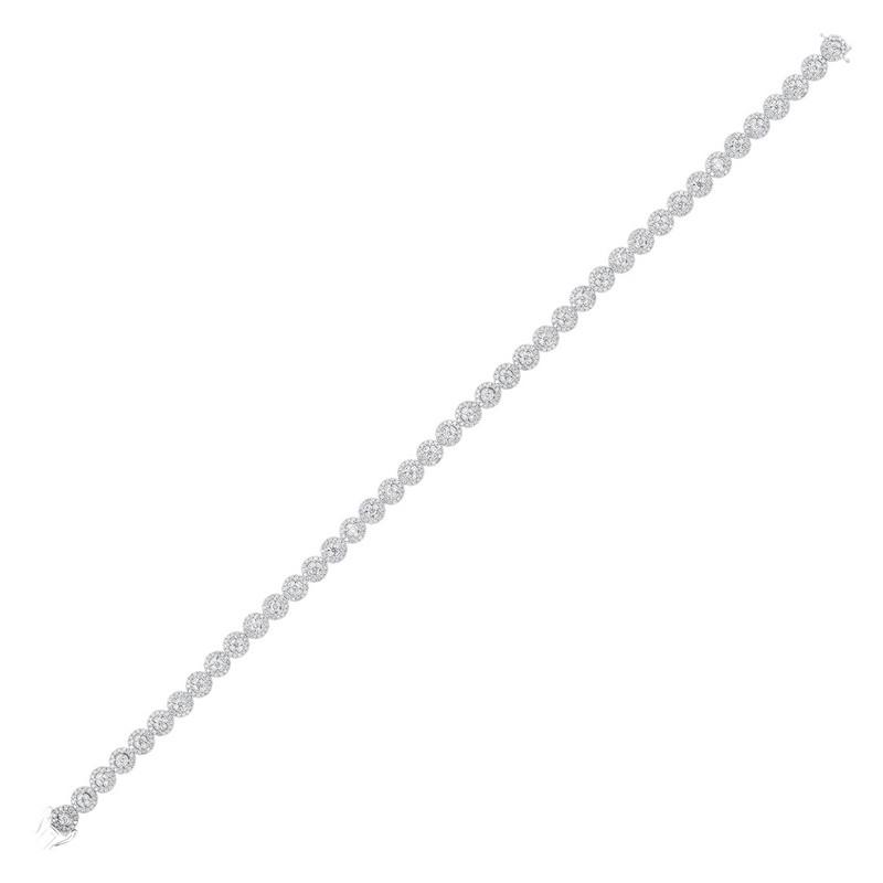 Tru Reflections Prong Diamond Bracelet In 14K White Gold (3 Ct. Tw.)