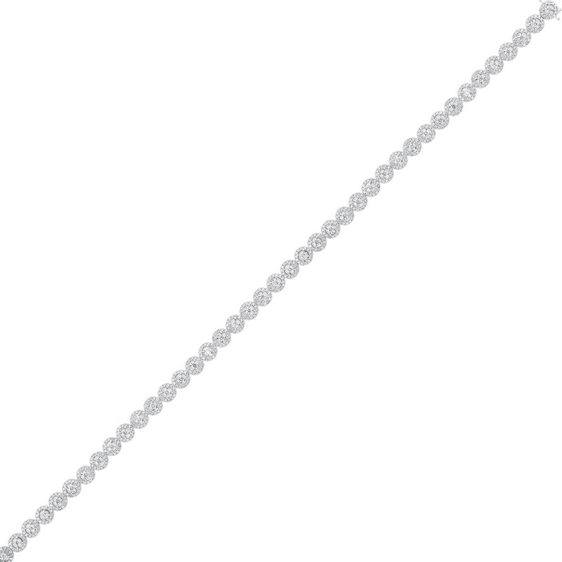 Tru Reflections Prong Diamond Bracelet In 14K White Gold (4 Ct. Tw.)