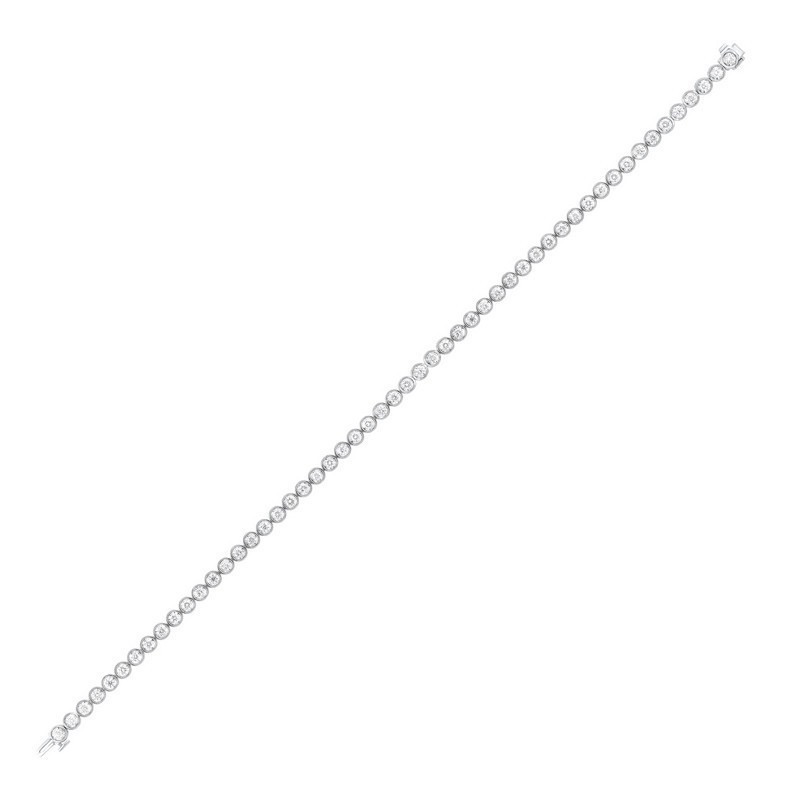 Tru Reflections Bezel Set Diamond Bracelet In 14K White Gold (1 Ct. Tw.)