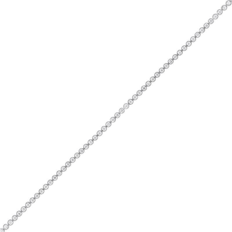 Tru Reflections Bezel Set Diamond Bracelet In 14K White Gold (2 Ct. Tw.)