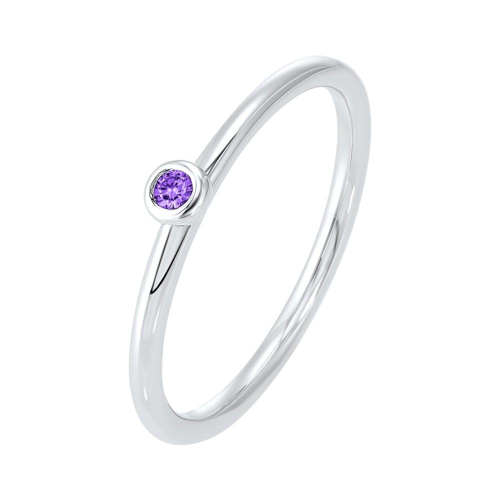 Sapphire Birthstone Ring In 10K White Gold