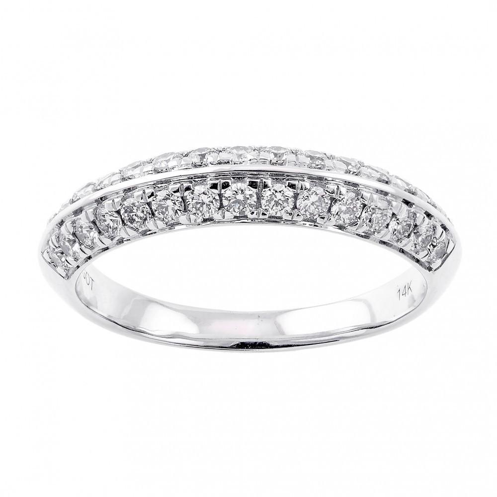 Multi-Row Diamond Ring In 14K White Gold (1/2 Ct. Tw.)