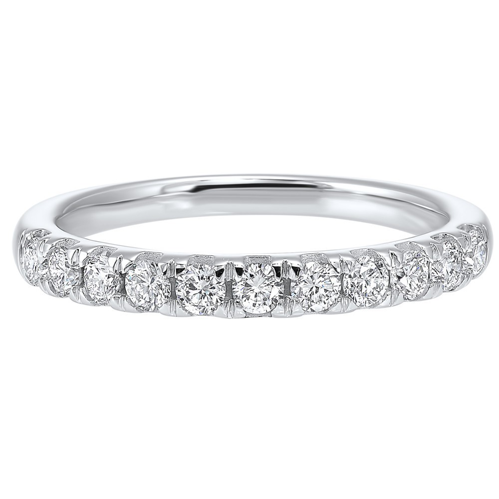 Micro Prong Diamond Band In 14K White Gold (1/4 Ct. Tw.)