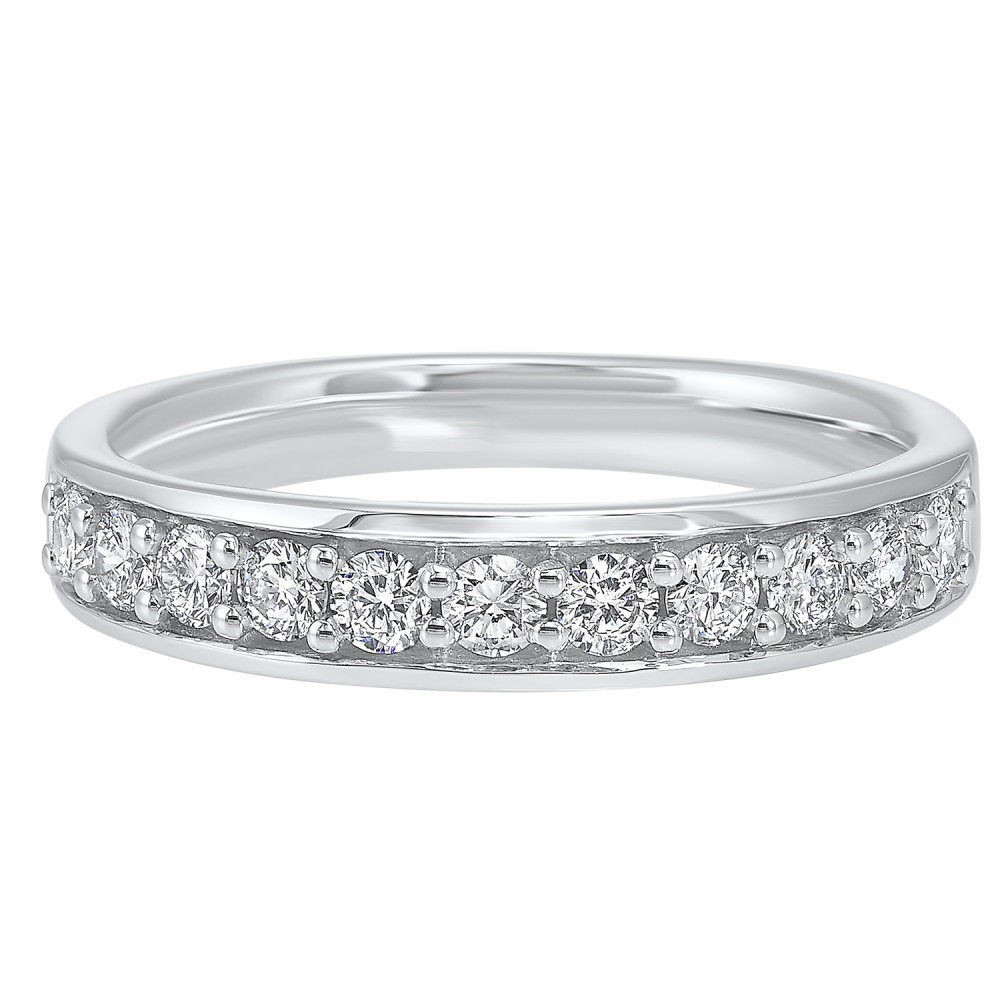 Micro Prong Diamond Band In 14K White Gold (1/3 Ct. Tw.)