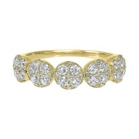 Five Station Circle Diamond Ring In 14K Yellow Gold (3/4 Ct. Tw)