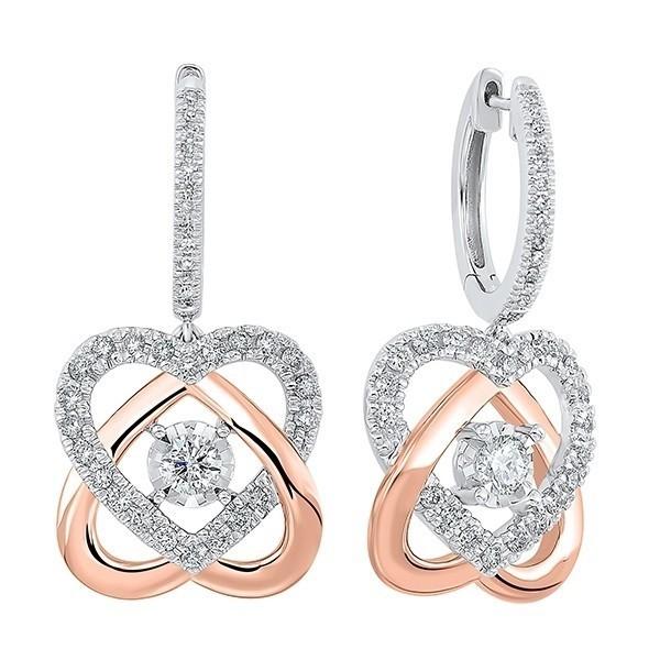Love's Crossing Diamond Earrings In 14K Two-Tone Gold (3/4 Ct. Tw)