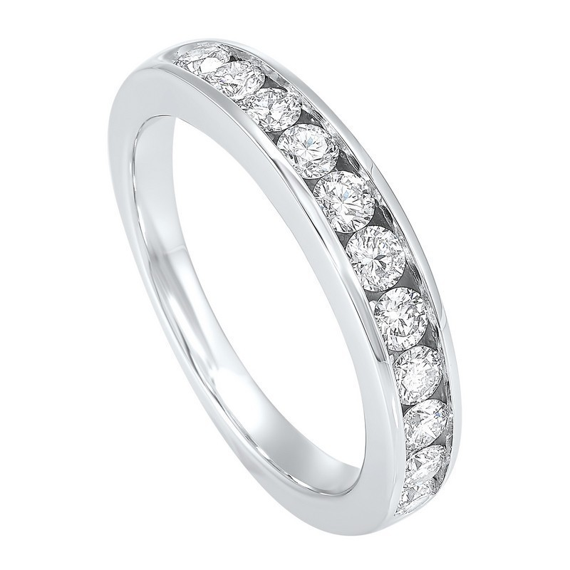 Channel Set Diamond Wedding Band In 14K White Gold (1/4 Ct. Tw.)