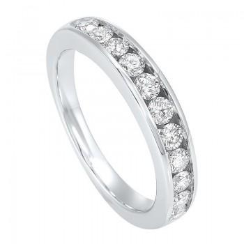 Channel Set Diamond Wedding Band In 14K White Gold (1/2 Ct. Tw.)