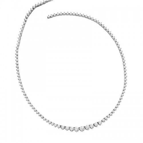 Riviera Diamond Necklace In 14K White Gold (10 Ct. Tw.)