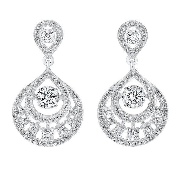 Teardrop Crystal Drop Earrings In Sterling Silver