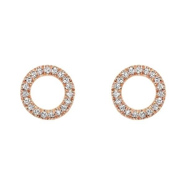 Sunburst Diamond Earrings In 14K Rose Gold (1/15 Ct. Tw.)