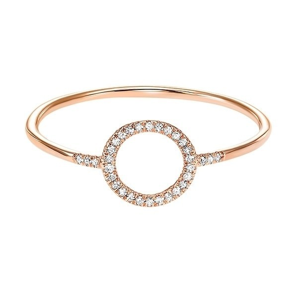 Circle Outline Diamond Ring In 14K Rose Gold (1/20 Ct. Tw.)