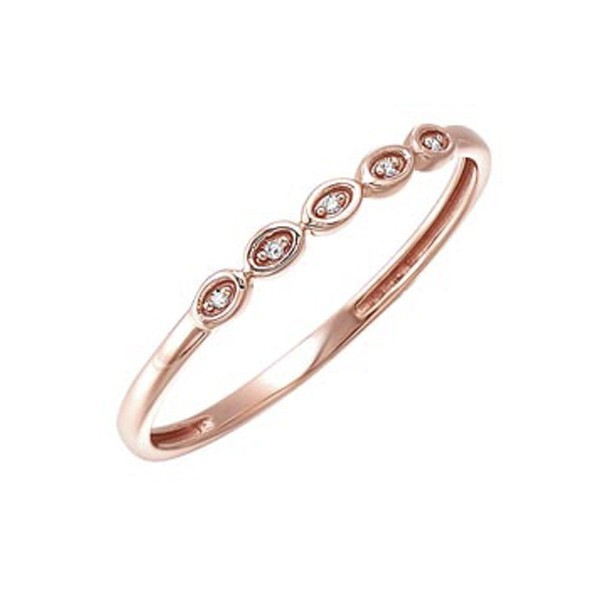 Diamond Mini Stackable Ring In Rose Gold (0.01ctw)