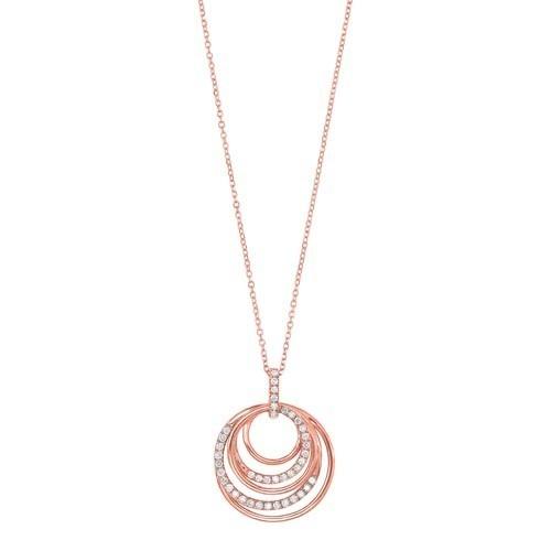 Eternity Diamond Pendant In 14K Rose Gold (1/4 Ct. Tw.)