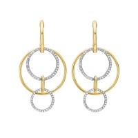 Cutout Circle Diamond Earrings In 14K Yellow Gold (1/2 Ct. Tw.)