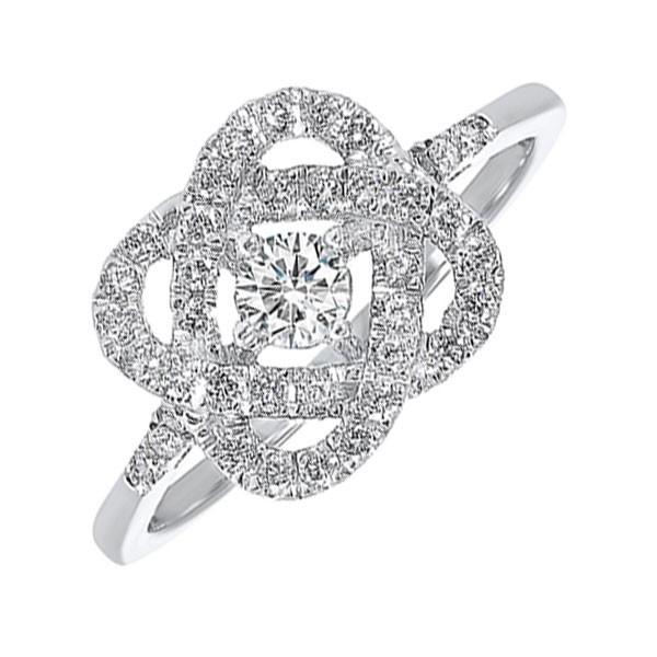 Diamond Infinity Love Heart Knot Promise Ring In 14k White Gold (1 1/2 Ctw)