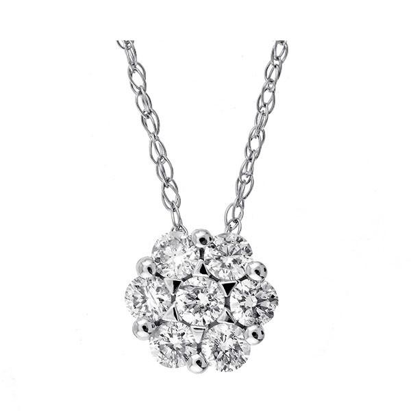 Round Diamond Pendant In 14K White Gold (1/4 Ctw)