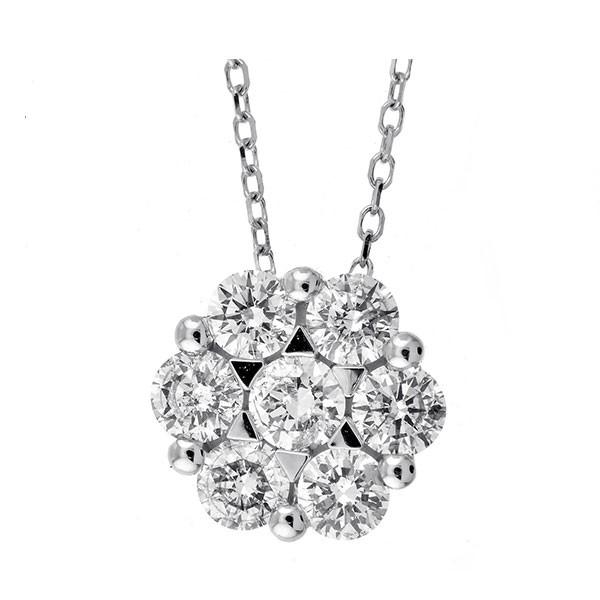 Round Diamond Pendant In 14K White Gold (3/4 Ctw)