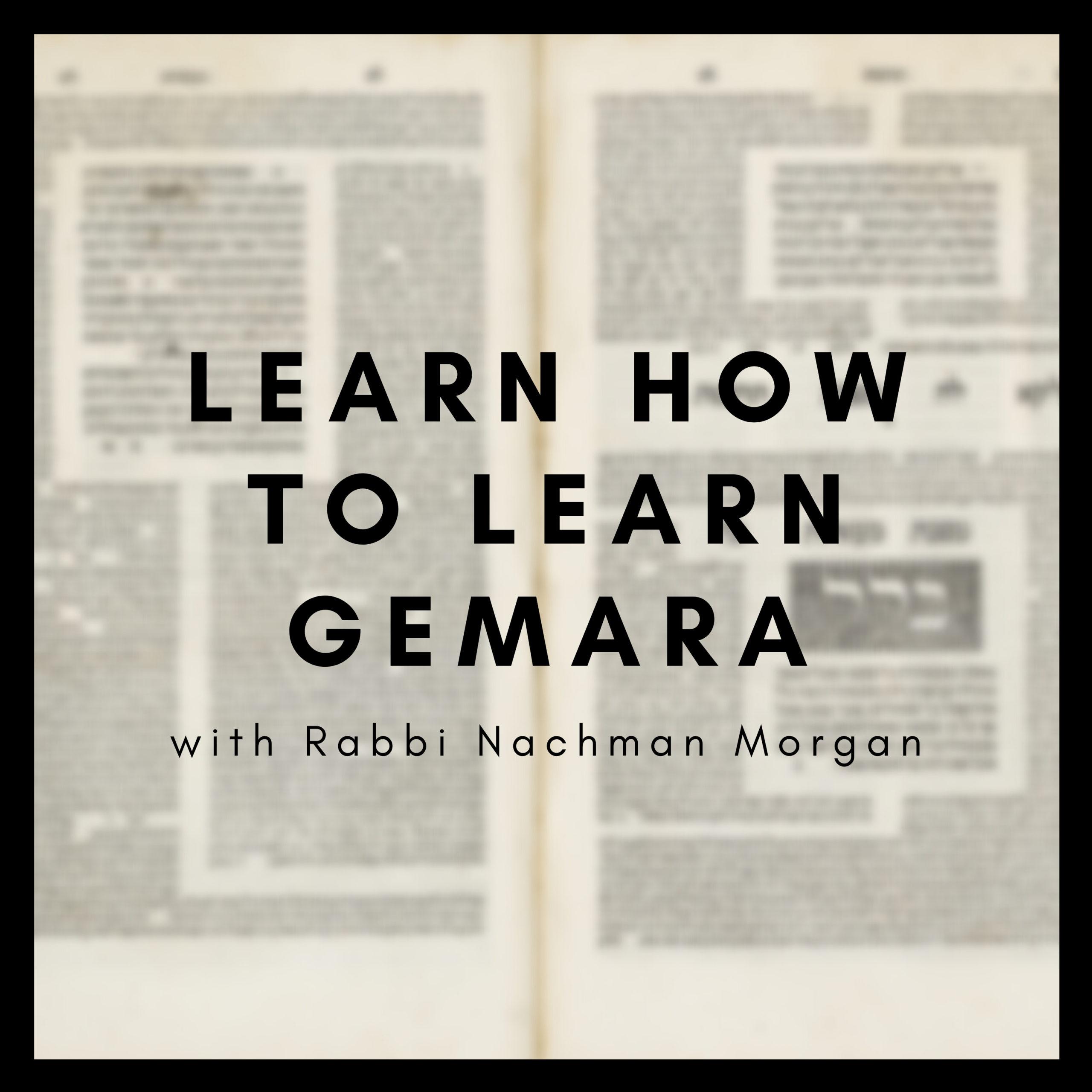 Learn How To Learn Gemara