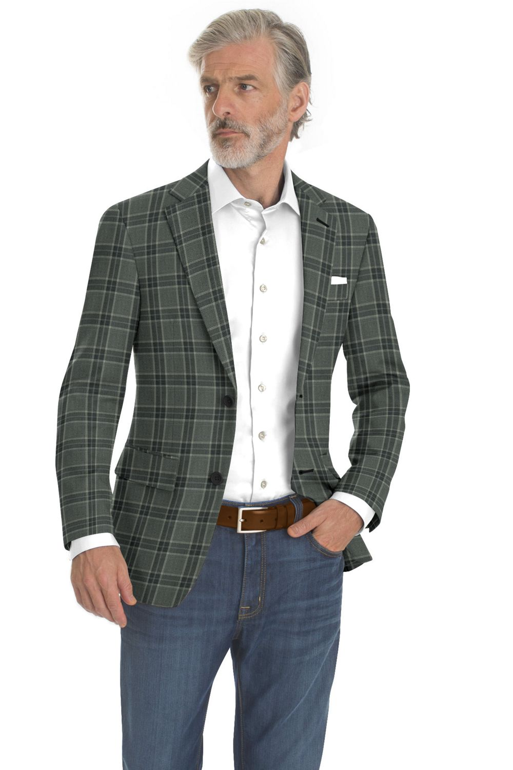 Charcoal Grey Plaid