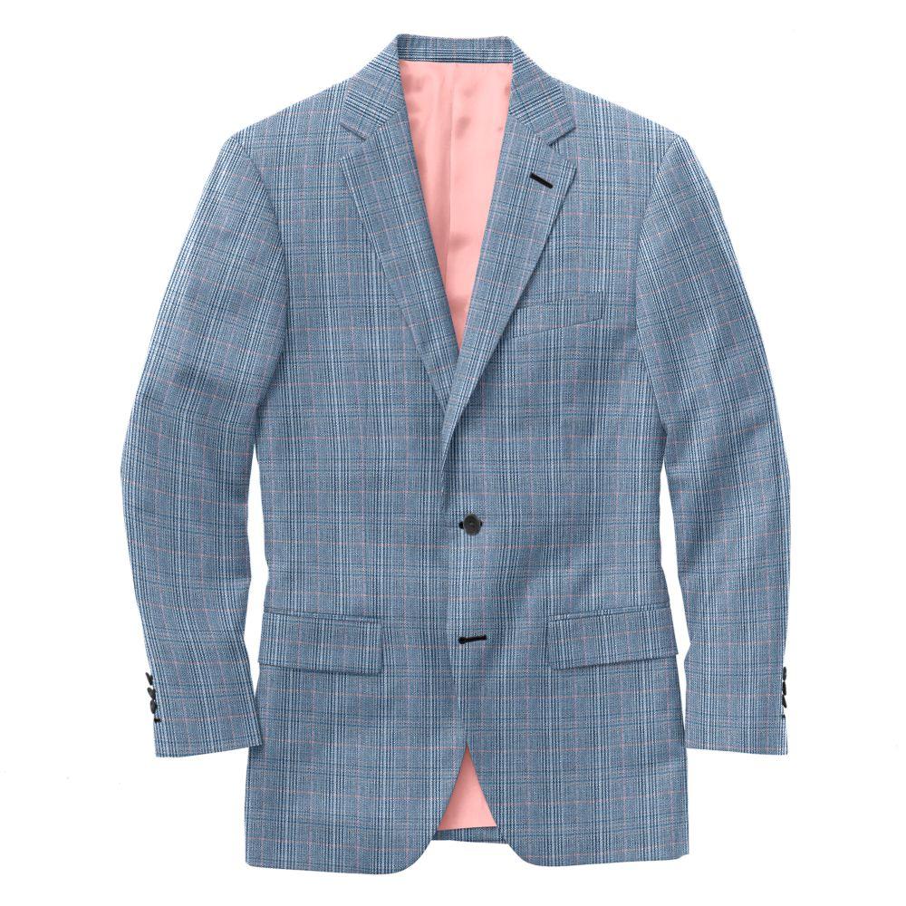 Blue Grey Pink Plaid
