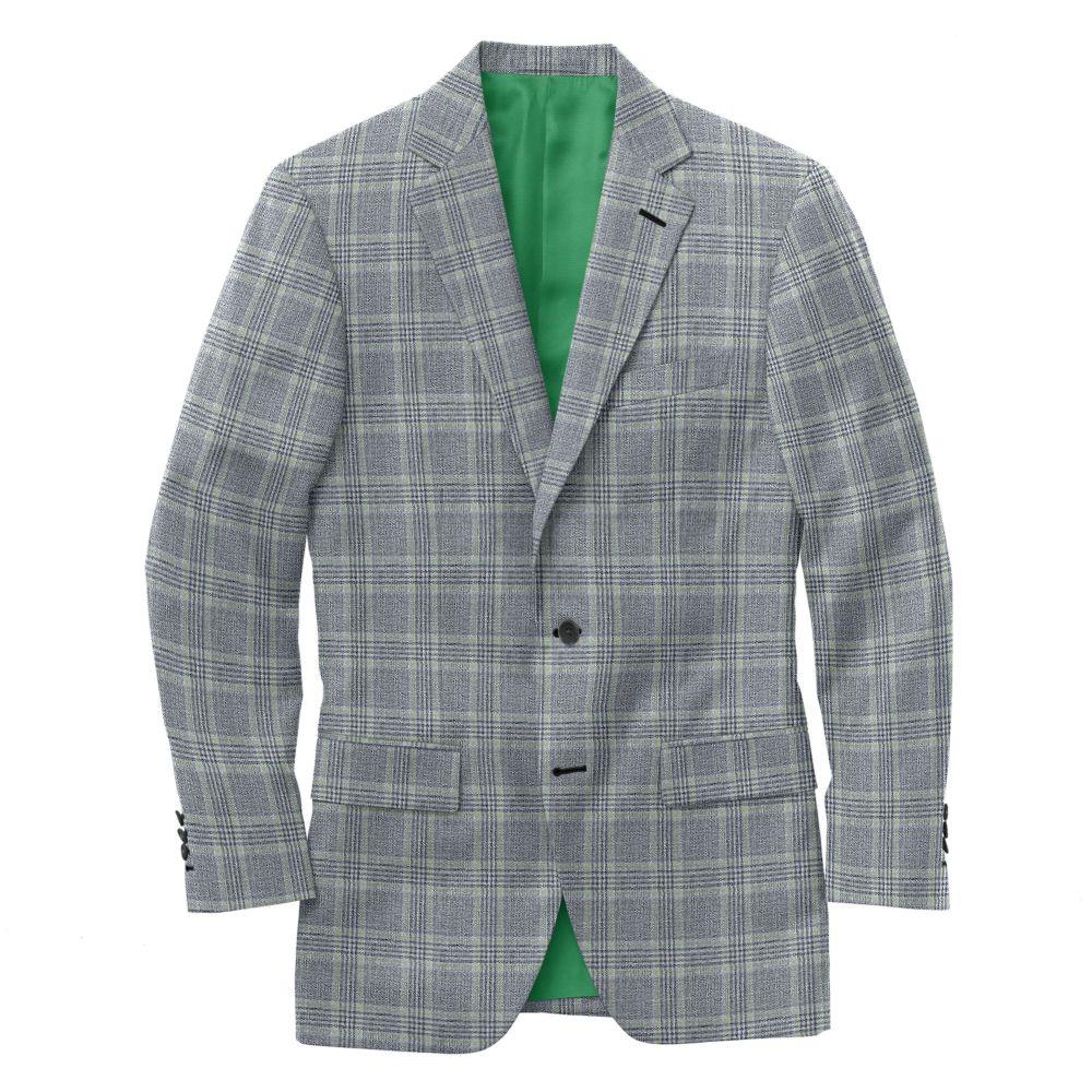 Grey Green Check