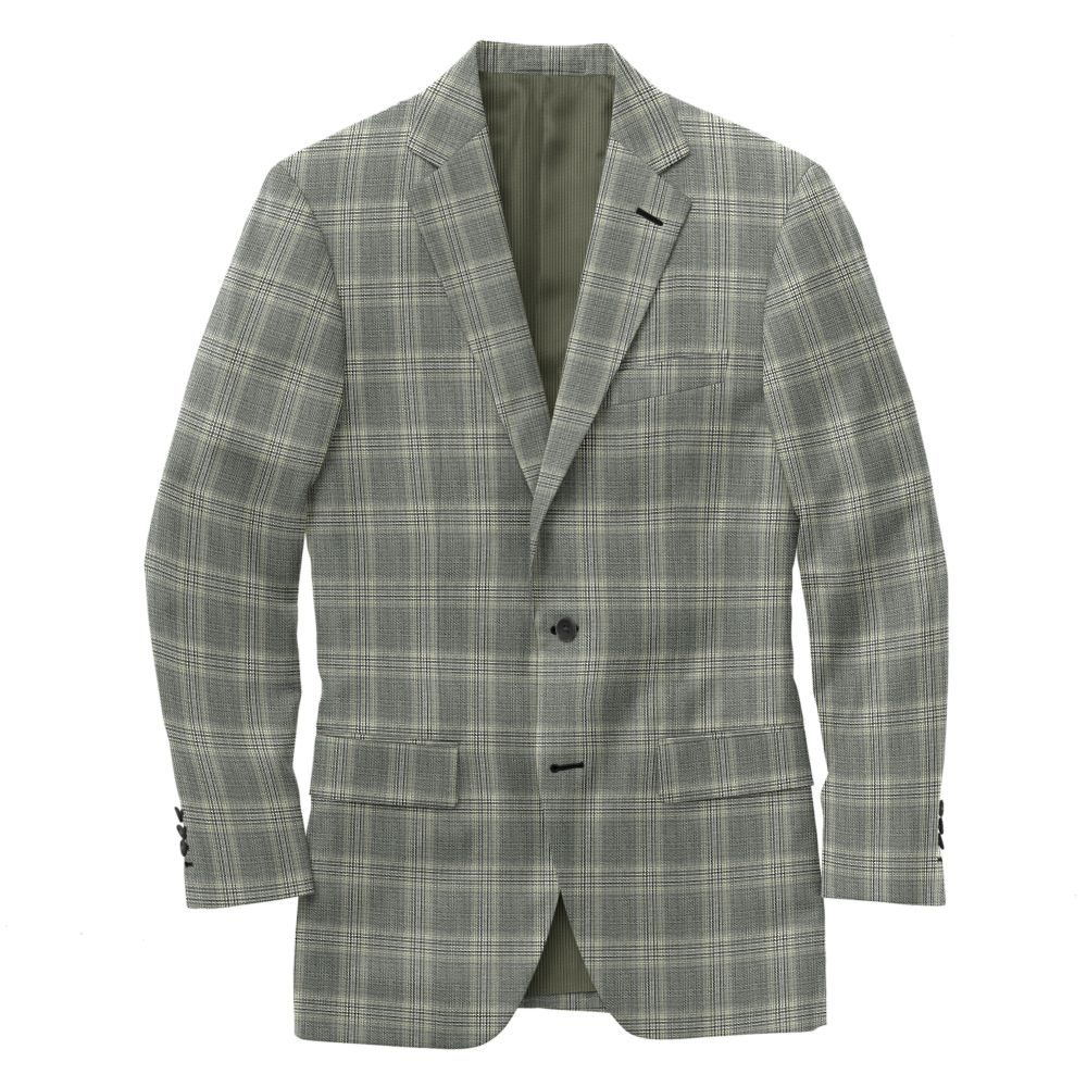 Gray Mint Windwonpane Plaid