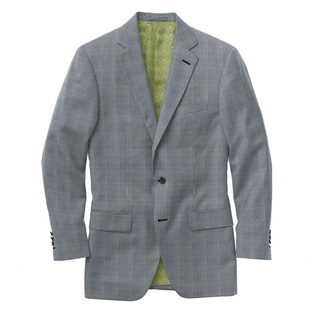 Navy Gray Houndstooth Windowpane