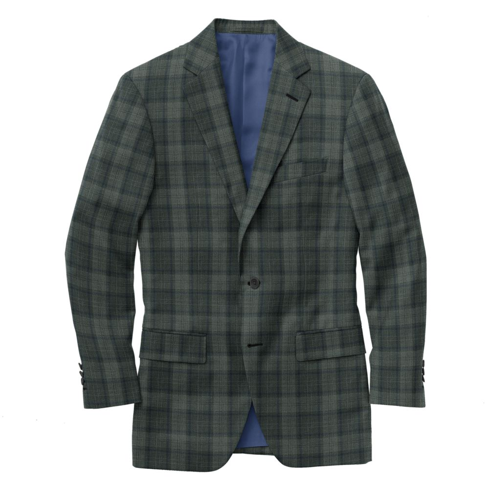 Banker Gray Navy Plaid