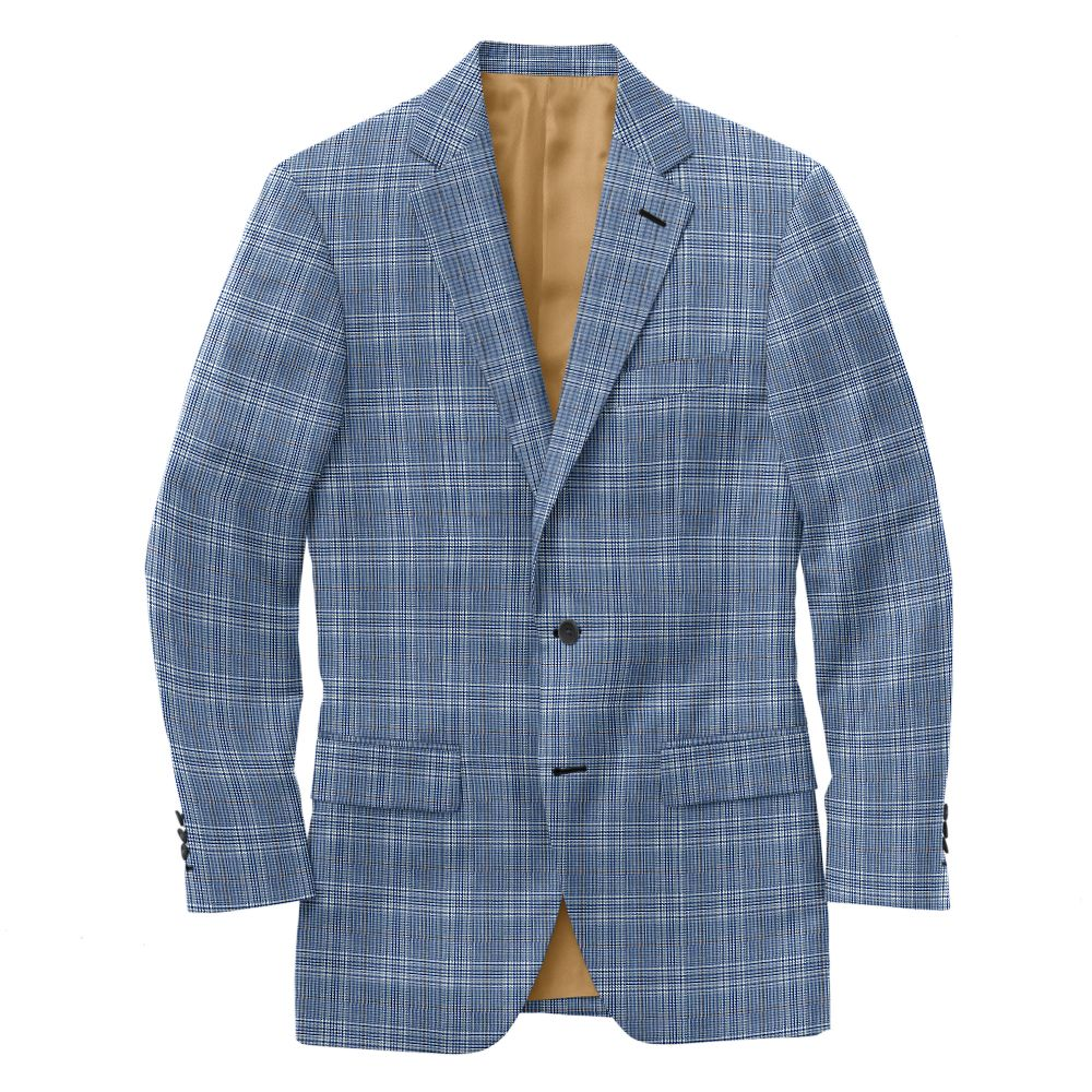 Admiral Blue Brown Plaid