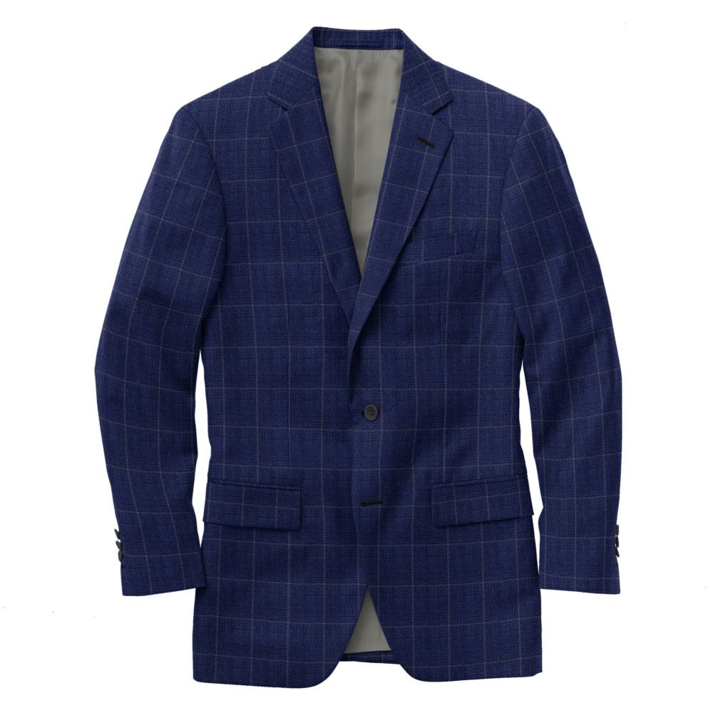 Petrol Blue Gray Windowpane