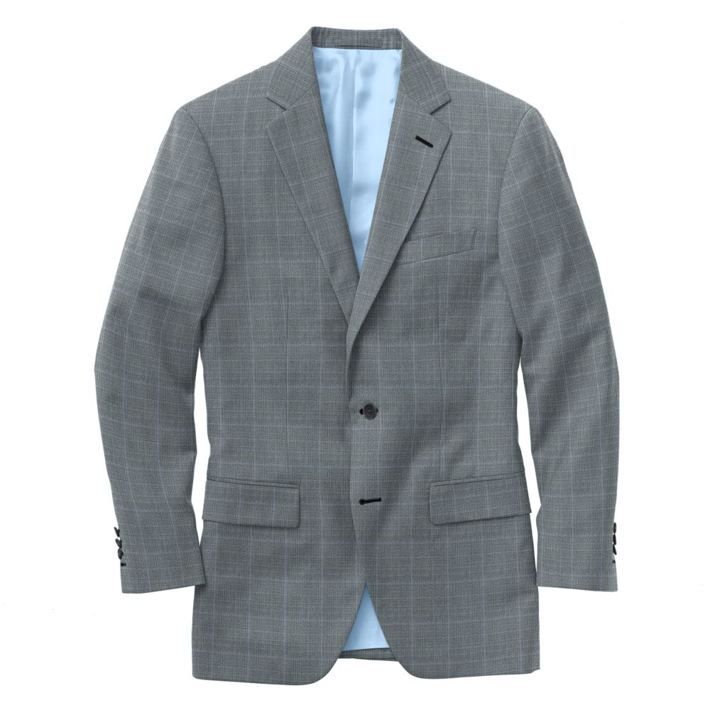 Oxford Gray Blue Windowpane