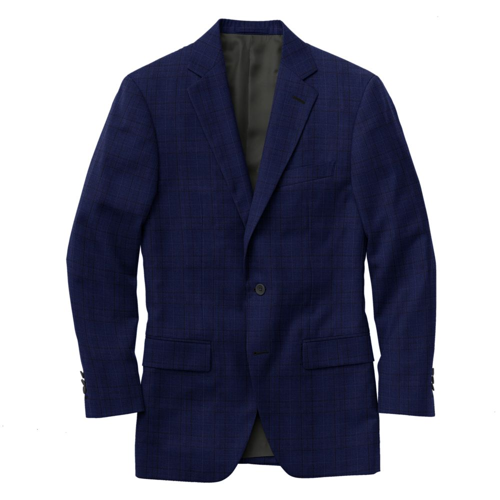 Royal Blue Multi Windowpane