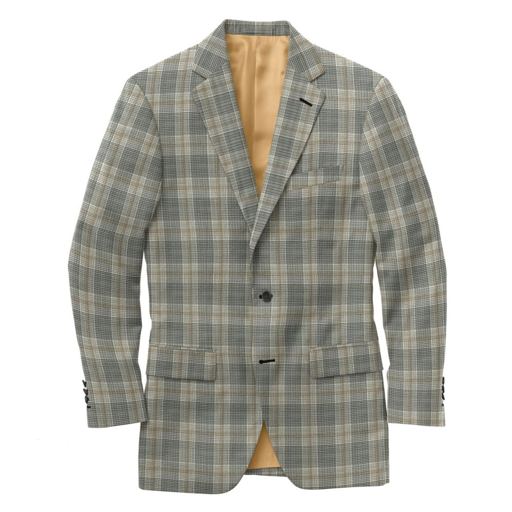 Oyster Ochre Windowpane Plaid