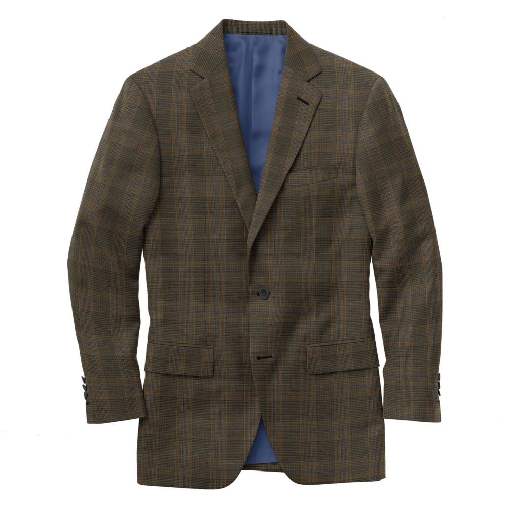 Brown Royal Windowpane Plaid