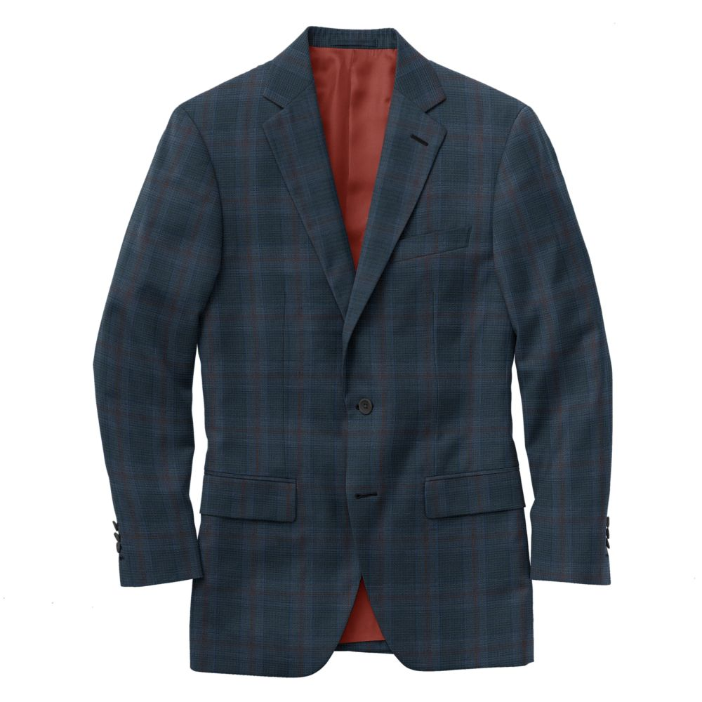 Royal Crimson Windowpane Plaid