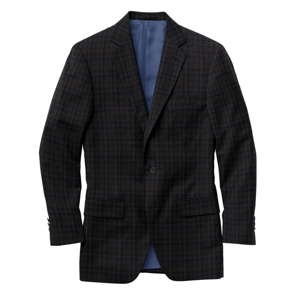 Charcoal Gray Windowpane Check