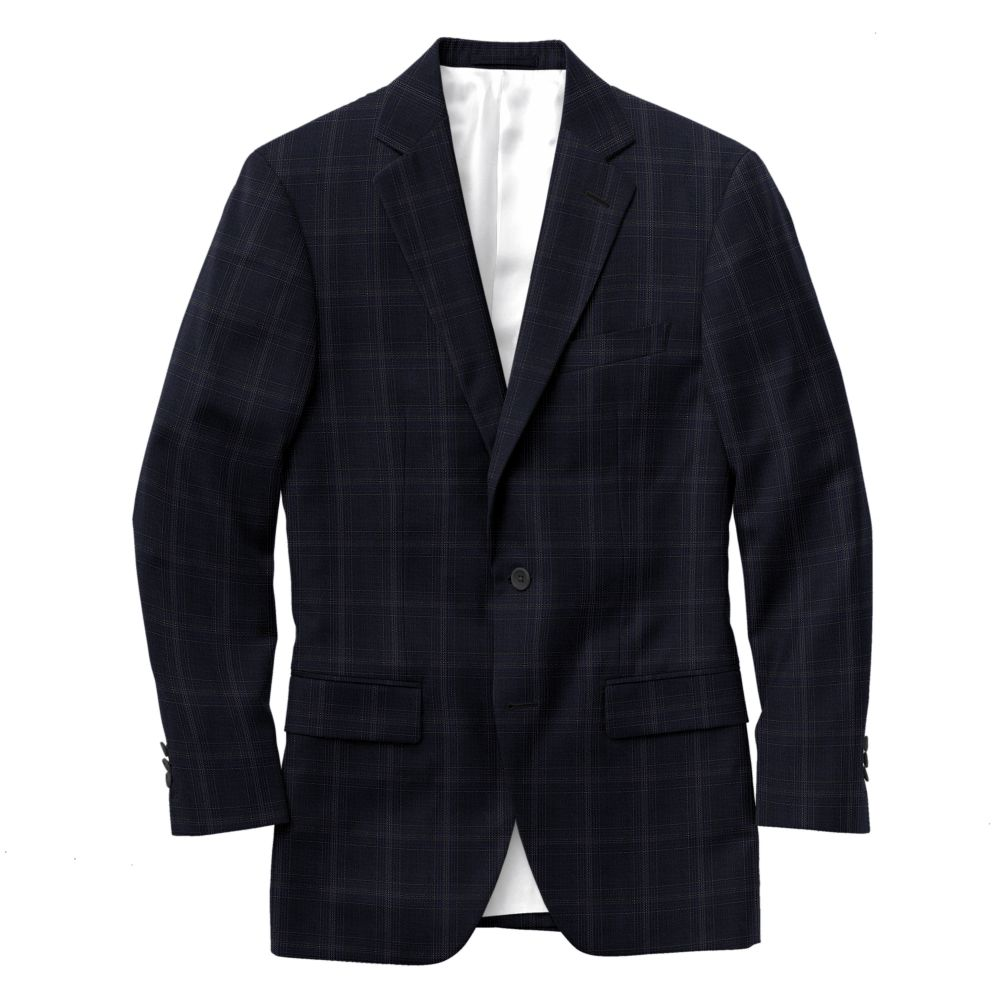 Navy Gray Track Windowpane