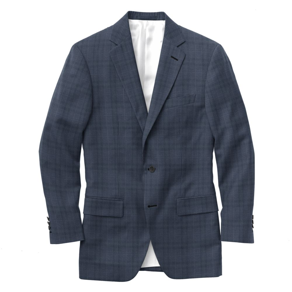 Lake Blue White Windowpane Check