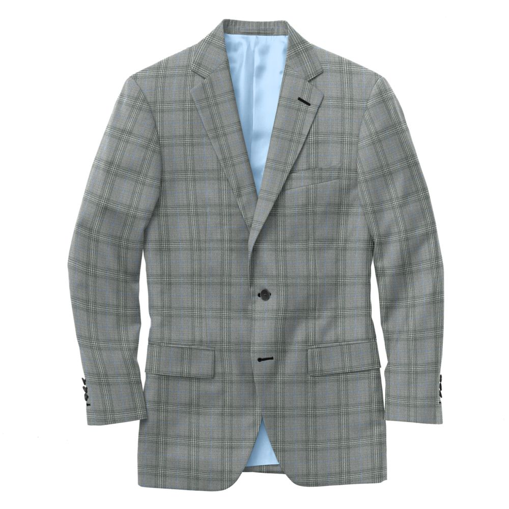 Dove Gray Blue Windowpane Check