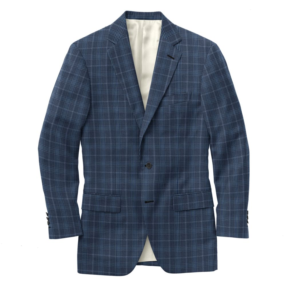 Gray Blue Windowpane Check