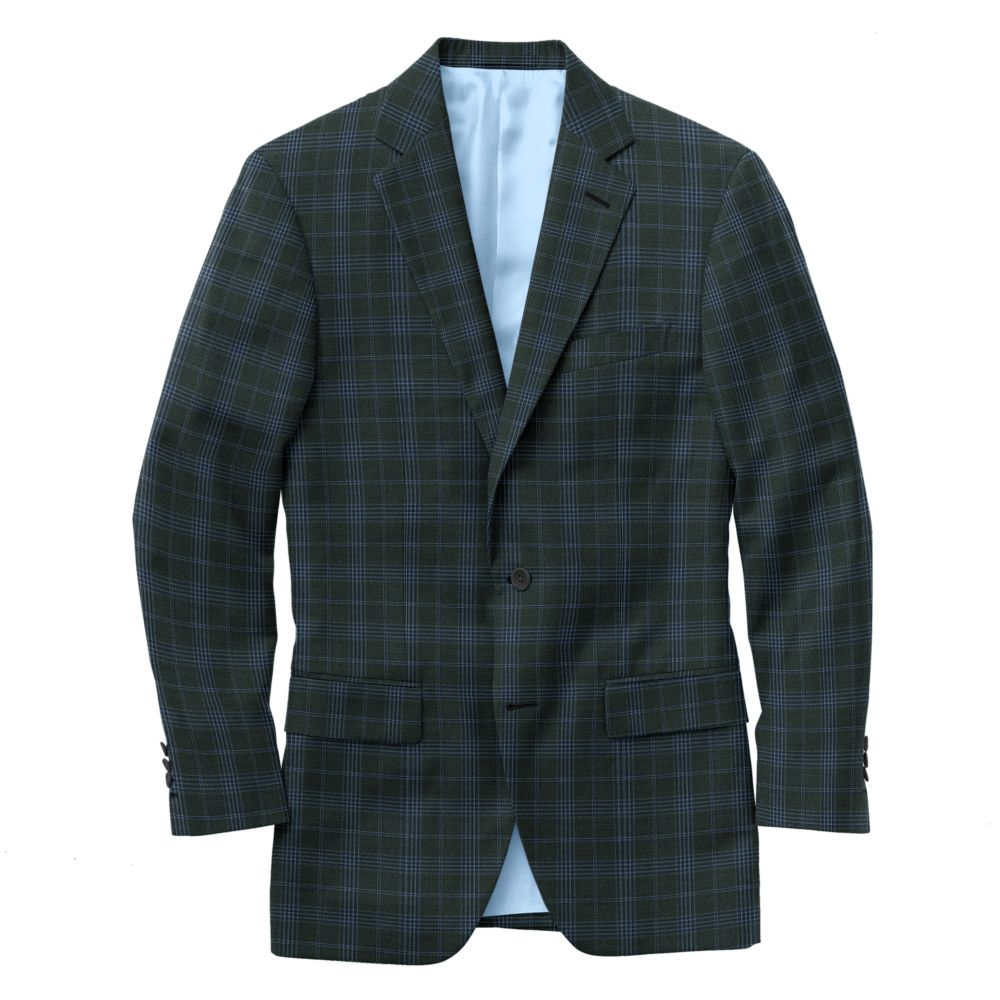 Graphite Blue Windowpane Check